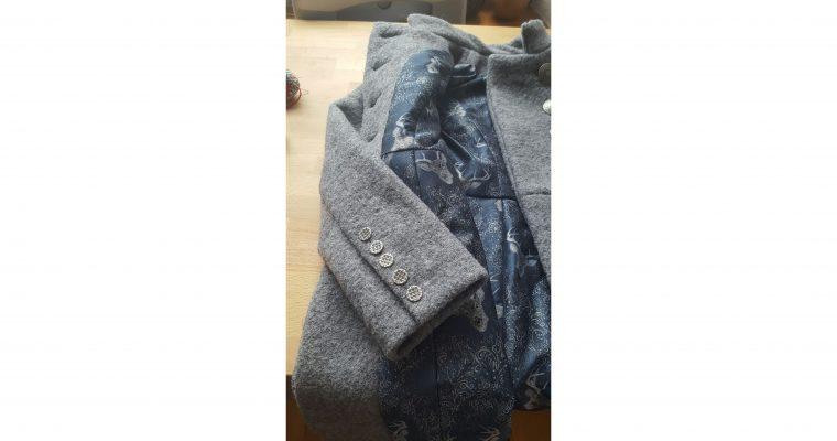 grey walk coat